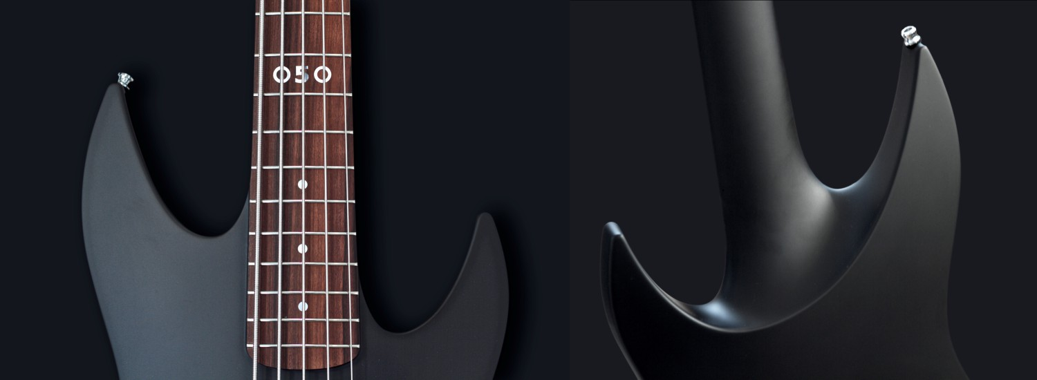 aristides bass 050 front and back black