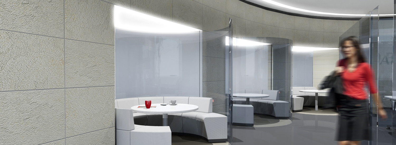 barclays strategisch winkel concept ontwerp transparante bespreekruimtes