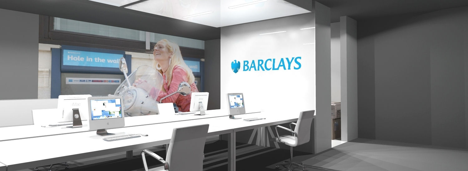 Barclays bankshop interior design workspace