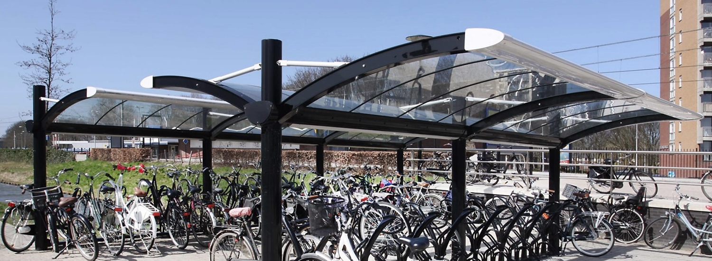 fietsoverkapping voor alle NS stations, ontwerp met sociale veiligheid