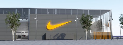 nike barcelona exterior side view