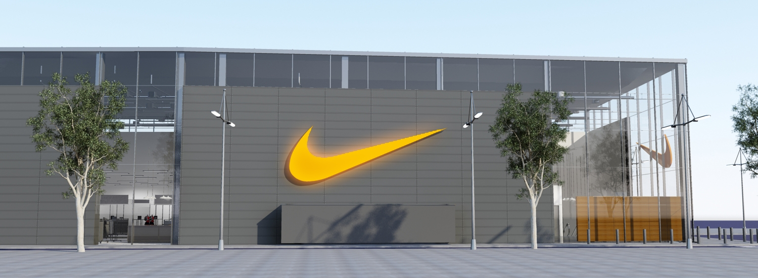 Nike Factory Store Barcelona | design visualization