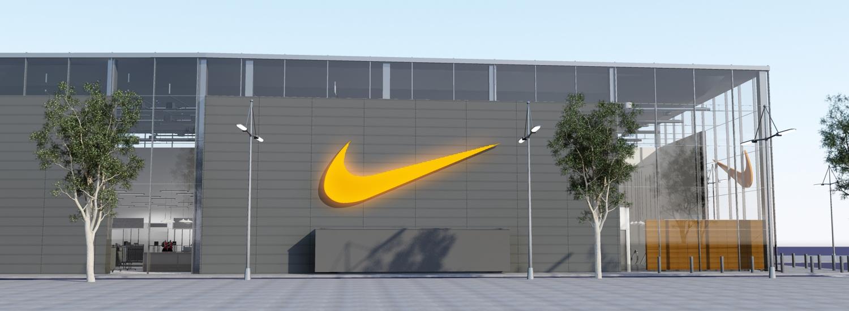 Nike Barcelona exterieur zijaanzicht