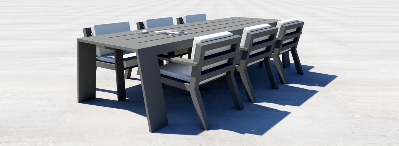 ontwerp rendering borek viking low diner in aluminium antraciet
