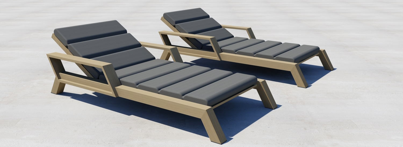 ontwerp rendering borek viking lounger / ligbed