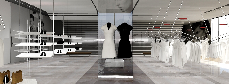 boss retail design winkel concept vooraanzicht met POS