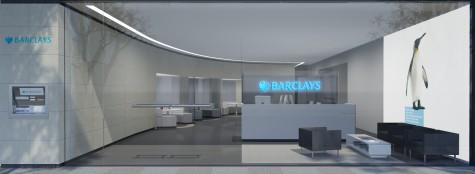 Barclays bankshop transparant winkel concept ontwerp