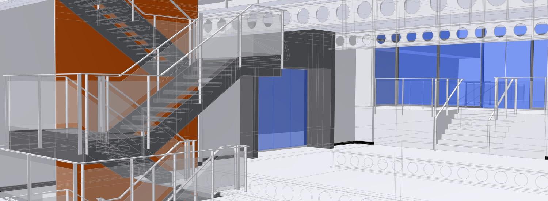 nike london factory store 3D CAD zij ingang
