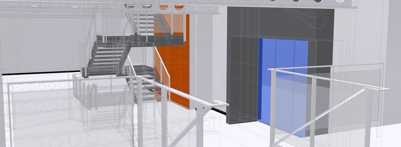 nike london factory store 3D CAD trappen