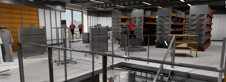 nike london factory store 2e verdieping trappen