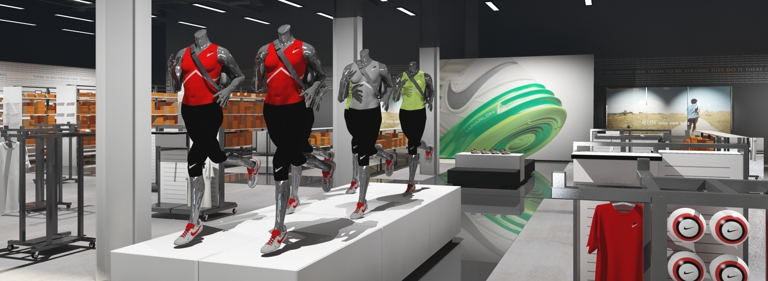 nike madrid factory store catwalk presentation