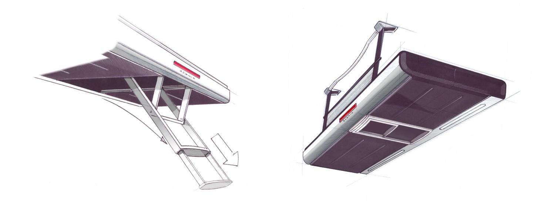 sacnia trap schets scania ontwerp bedden en cabine onderdelen voor vrachtwagen