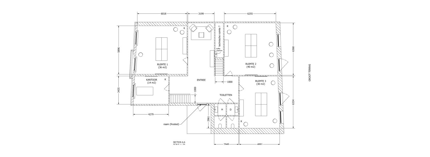 STAIRWAY OFFICE etage 1 new floorplan